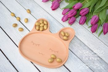 Eco Kids | Wooden Bunny Plate