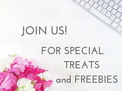 join us for special treats and freebies