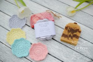 Zero Waste Natural Handmade Face scrubbies 4