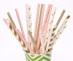 100pieces-lot-pink-font-b-gold-b-font-paper-font-b-straws-b-font-for