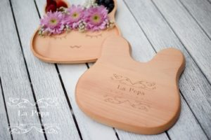 ECO Kids   Wooden Bunny Plate 1