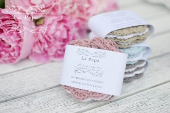 Eco Chic | Linen and Cotton Zero Waste Crochet Face Scrubbies