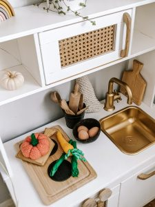 Upcycle | Ikea Play Kitchen Rattan Style Makeover